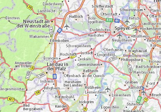 Karte Stadtplan Lustadt