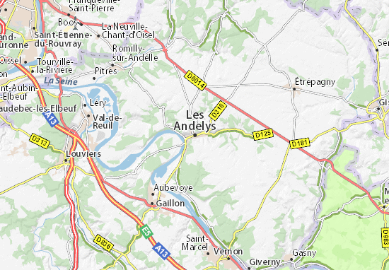 Les Andelys Map