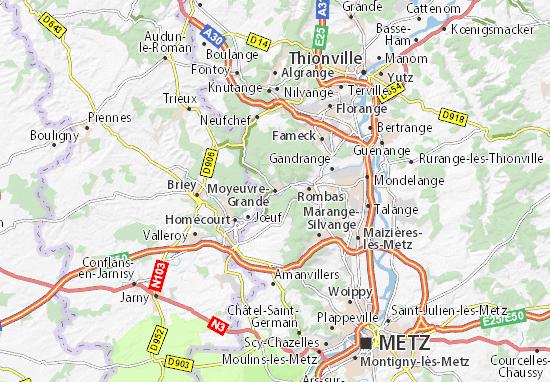 Carte-Plan Moyeuvre-Grande