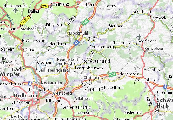 Karte Stadtplan Hardthausen