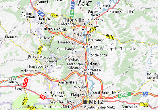 Carte-Plan Amnéville