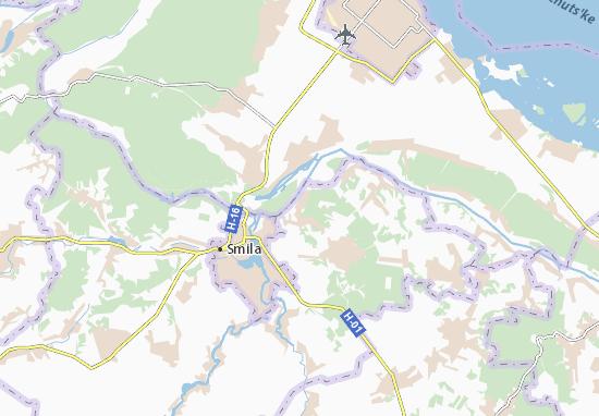 Zalevky Map