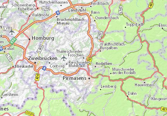 Kaart Plattegrond Thaleischweiler-Fröschen