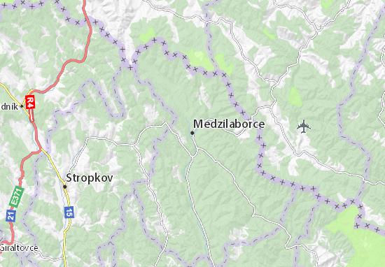 Medzilaborce Map