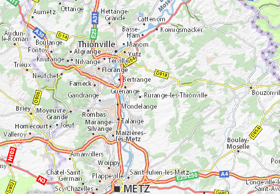 Carte-Plan Rurange-lès-Thionville