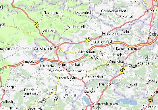 Lichtenau Map