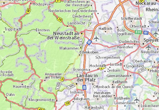 Karte Stadtplan Edenkoben