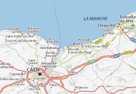 Carte-Plan Merville-Franceville-Plage
