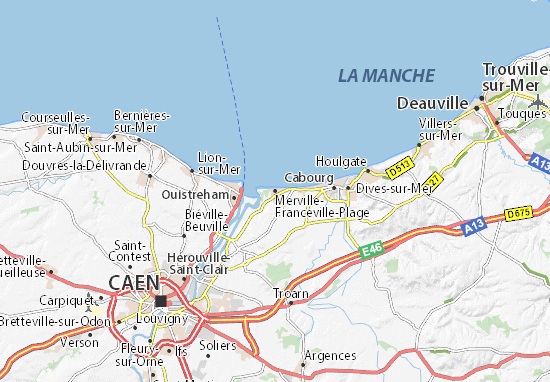 Merville-Franceville-Plage Map