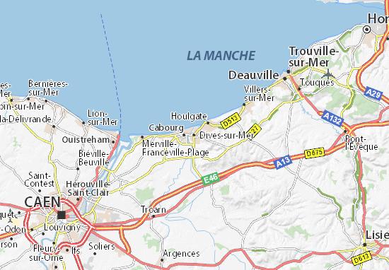 Carte-Plan Dives-sur-Mer