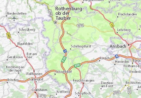 Schillingsfürst Map