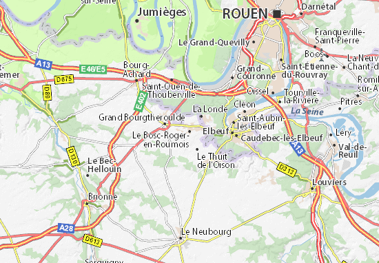 Karte Stadtplan Le Bosc-Roger-en-Roumois