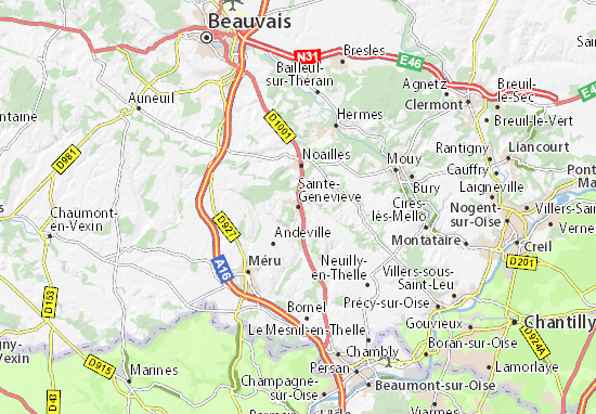Mapas-Planos Sainte-Geneviève