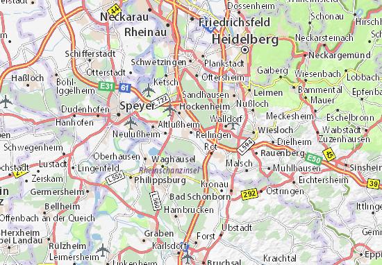 Carte-Plan Reilingen