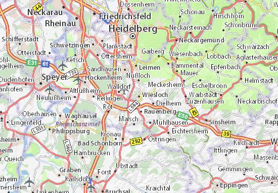 Karte Stadtplan Wiesloch
