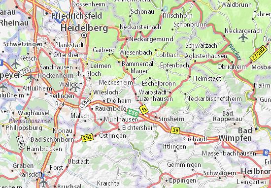 Mapas-Planos Zuzenhausen