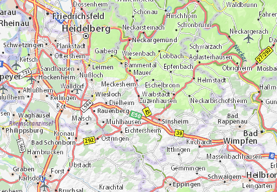 Mappe-Piantine Zuzenhausen