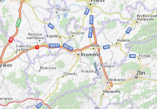 Mapas-Planos Kroměříž