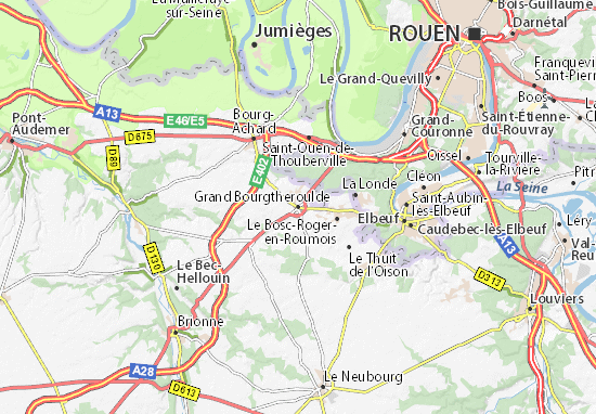 Mappe-Piantine Grand Bourgtheroulde