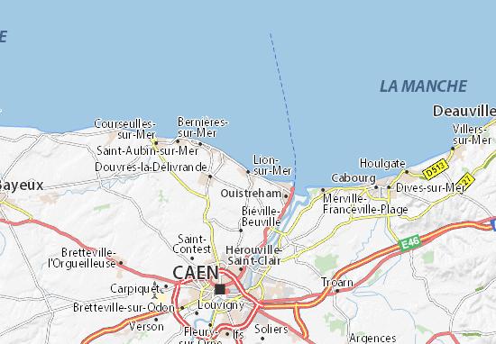 Carte-Plan Lion-sur-Mer