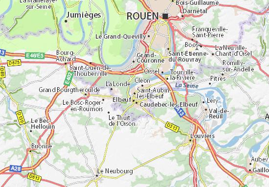 Saint-Aubin-lès-Elbeuf Map