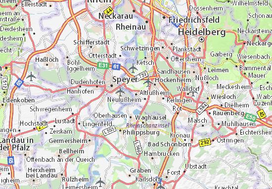 Carte-Plan Altlußheim
