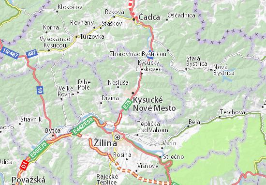 Mapas-Planos Kysucké Nové Mesto