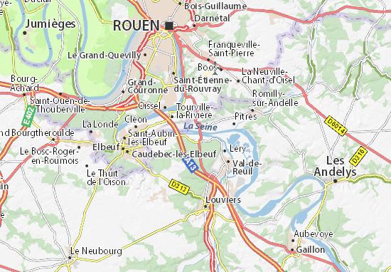 Carte-Plan Pont-de-l'Arche