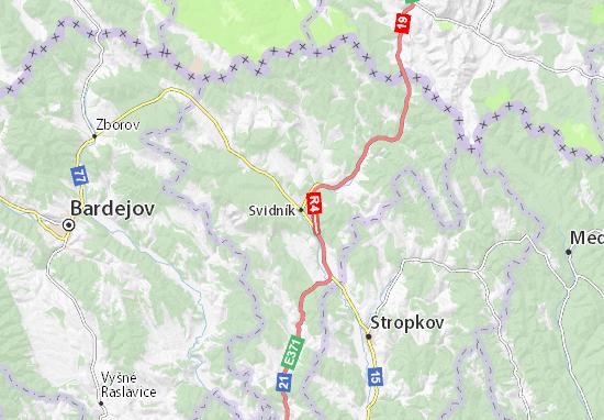 Svidník Map