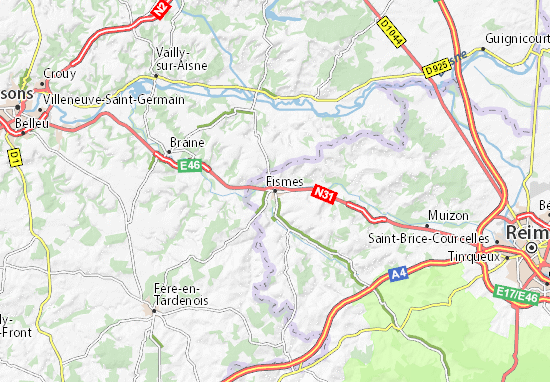 Fismes Map
