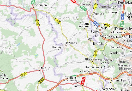 Piennes Map