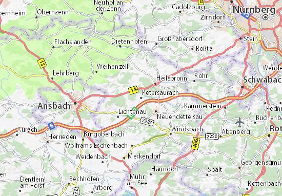 Petersaurach Map