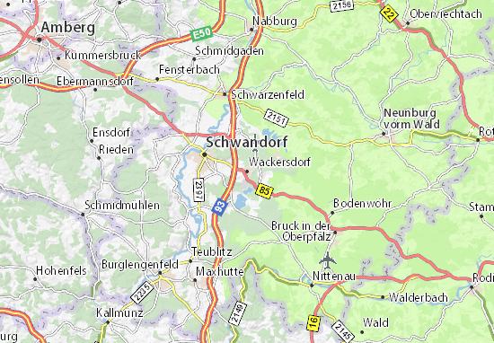 Carte-Plan Wackersdorf