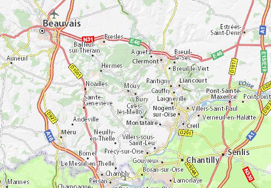 Mapa Bury