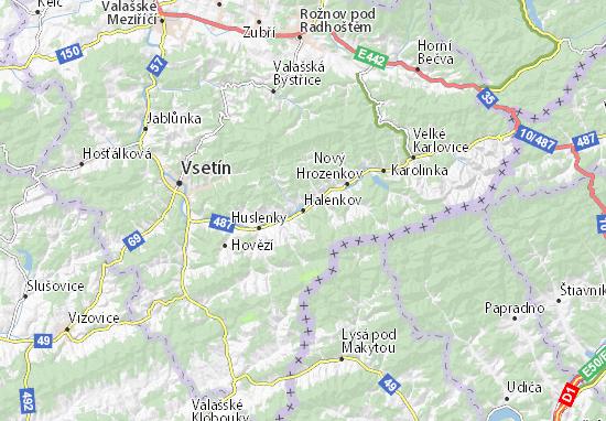 Mapa Plano Halenkov