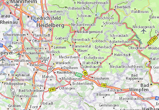 Karte Stadtplan Meckesheim