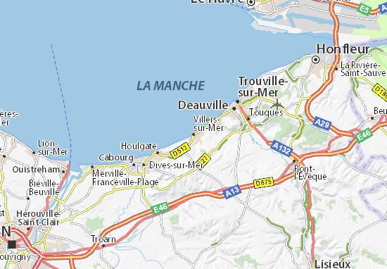 Kaart Plattegrond Villers-sur-Mer