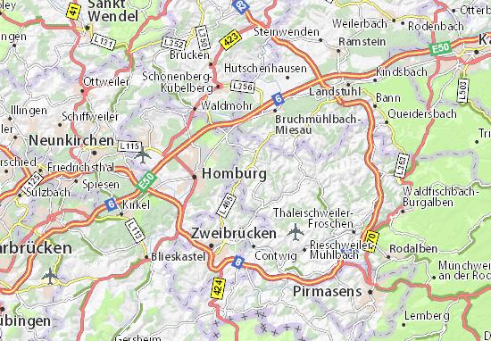 Detailed Map Of Kashofen Kashofen Map Viamichelin