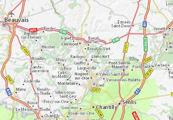 Carte-Plan Rantigny