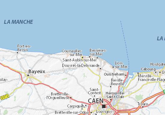 Carte-Plan Courseulles-sur-Mer