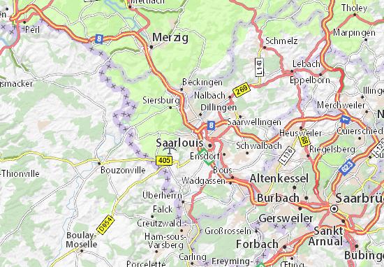 Karte Stadtplan Wallerfangen
