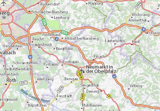 Carte-Plan Berg bei Neumarkt in der Oberpfalz