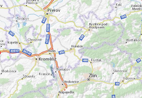 Mapa Plano Holešov