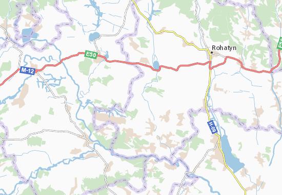 Carte-Plan Hryhoriv