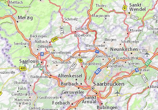 Karte Stadtplan Heusweiler