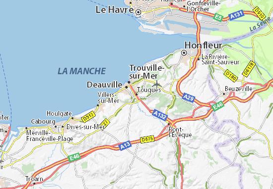 Kaart Plattegrond Touques