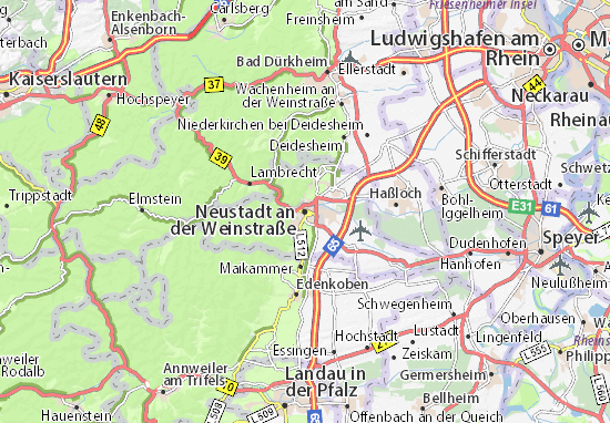 Mapas-Planos Neustadt an der Weinstraße