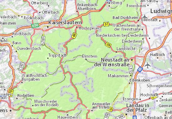 Karte Stadtplan Elmstein