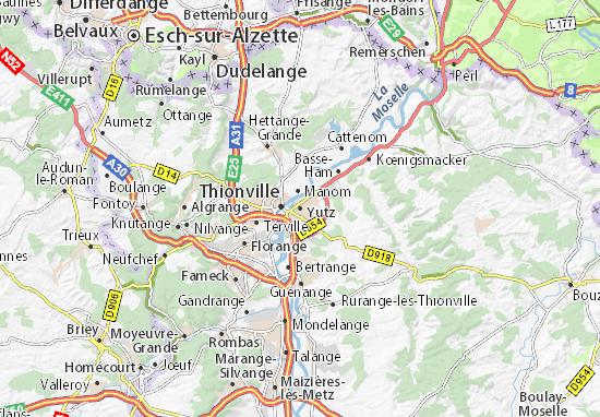 Yutz Map