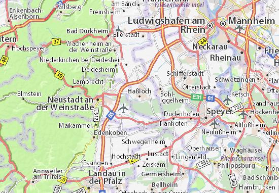 Karte Stadtplan Haßloch